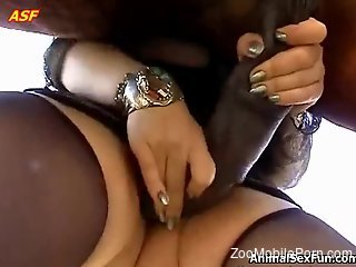 Mature with huge tits, smashing nude zoophilia with the horse