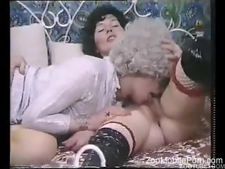 Classic matures in raw scenes of vintage zoophilia action