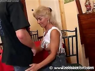 Sexy ass woman fucked by hubby and by the dog